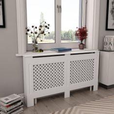 shumee Kryt na radiátor, biely 152x19x81,5 cm, MDF