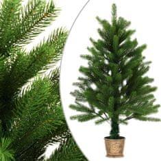 Umelý vianočný stromček s realistickým ihličím zelený 90 cm
