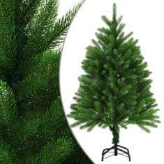 Umelý vianočný stromček s realistickým ihličím zelený 120 cm