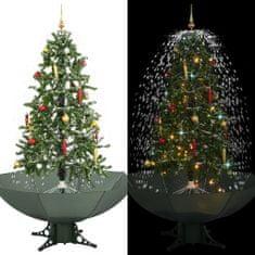 Snežiaci vianočný stromček dáždnikovým podstavcom zelený 170 cm