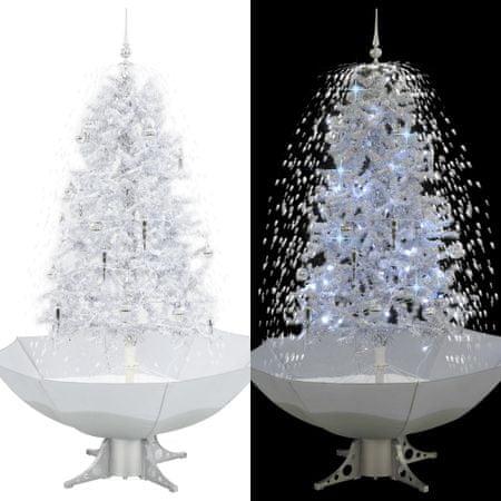 shumee fehér havazó karácsonyfa ernyő alakú talppal 170 cm