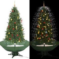 Snežiaci vianočný stromček dáždnikovým podstavcom zelený 190 cm