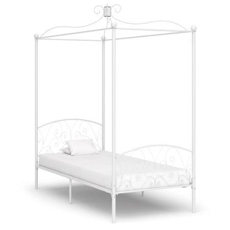 shumee fehér fém baldachinos ágykeret 90 x 200 cm
