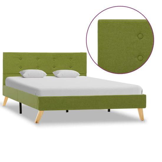 Rám postele zelený 120x200 cm látkový