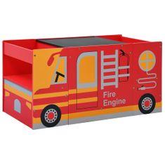 3-częściowy zestaw mebli dla dzieci, wóz strażacki, drewno