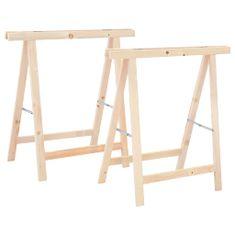 Składane stojaki do piłowania drewna, 2 szt., sosna
