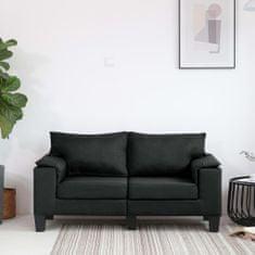 Vidaxl 2místná pohovka černá textil