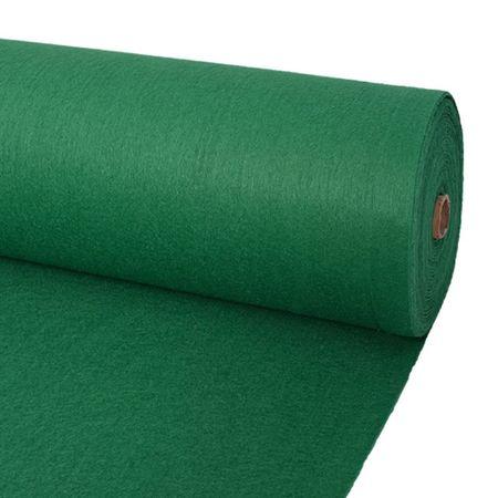 shumee 1x12 m Zöld világos kiállítási szőnyeg