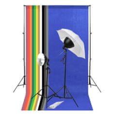 Foto studio set s osvětlením a fotopozadím