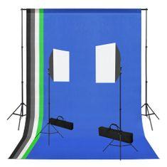 Foto studio set se softboxy a fotopozadím
