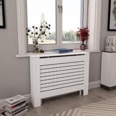 shumee Kryty na radiátor 2 ks biele 112x19x81,5 cm MDF