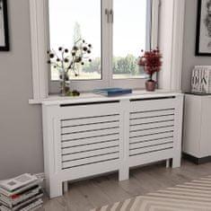 shumee Kryty na radiátor 2 ks, biele 152x19x81,5 cm, MDF