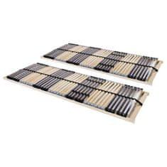 Lamelové posteľné rošty 2 ks so 42 lamelami a 7 zónami 70x200cm