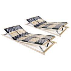 Lamelové rošty do postele 2 ks 42 lamel 7 zón 70 x 200 cm