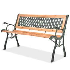 Záhradná lavička 122 cm, drevo