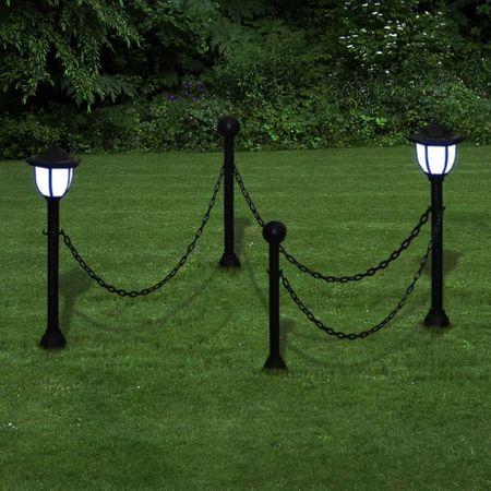 shumee Lánc Kerítés kültéri lámpával 2 LED Lámpa Két Pózna