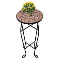 Stolík pre reastliny s terakotovou mozaikou
