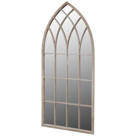 shumee gótikus íves kerti tükör kültéri/beltéri használatra 50x115cm