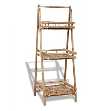 shumee Kwietnik z 3 półkami, bambus