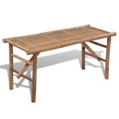 shumee Skladacia záhradná lavička 118 cm, bambus