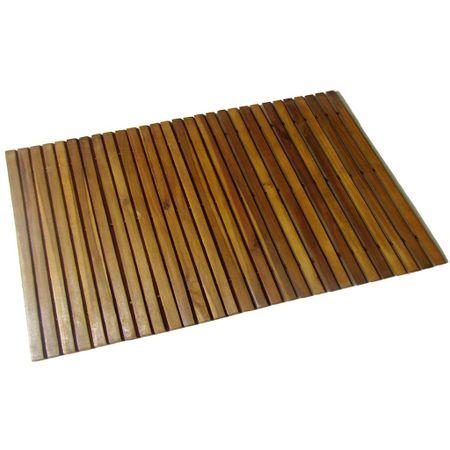 shumee Mata prysznicowa z drewna akacjowego, 80 x 50 cm