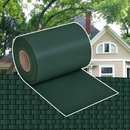 Osłona na ogrodzenie ogrodowe, PVC, 70x0,19 m, zielona