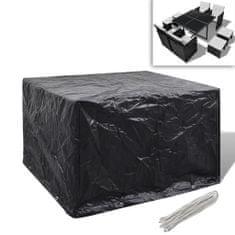 shumee Kryt na set polyratanového nábytku pro 4 osoby, 8 oček, 113 x 113 cm
