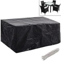 shumee Kryt na set polyratanového nábytku pro 4 osoby, 8 oček, 180 x 140 cm