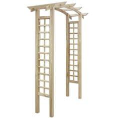 shumee Záhradný oblúk s mriežkou 150x50x220 cm, drevo