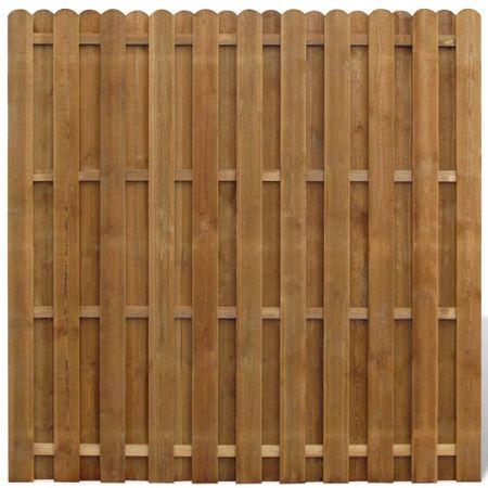 Panel ogrodzeniowy, impregnowana sosna, 180x180 cm