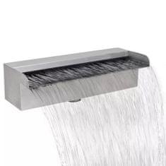shumee Obdélníková bazénová fontána Vodopád Nerezová ocel 30 cm