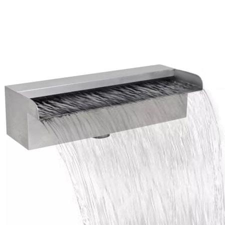 Fontanna/wodospad do basenu, prostokątny, stal nierdzewna, 60 cm
