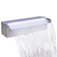 Fontanna/wodospad do basenu, 120 cm, z oświetleniem LED