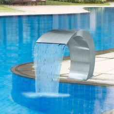 Fontanna ze stali nierdzewnej do basenu ogrodowego, 45x30x60 cm
