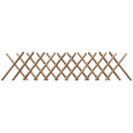 shumee Płotek rozciągany, kratka, impregnowane drewno, 250x60 cm