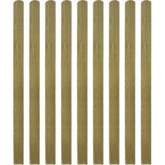 shumee Impregnované plotovky 10 ks dřevo 140 cm