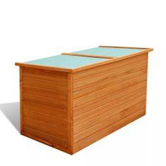 Zahradní úložný box 126 x 72 x 72 cm dřevěný