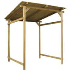shumee Zahradní přístřešek impregnované borové dřevo 170x170x180 cm
