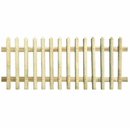 shumee impregnált fenyőfa léckerítés 170x120 cm 5/7 cm
