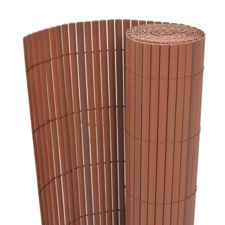 Dwustronne ogrodzenie ogrodowe, PVC, 90x300 cm, brązowe