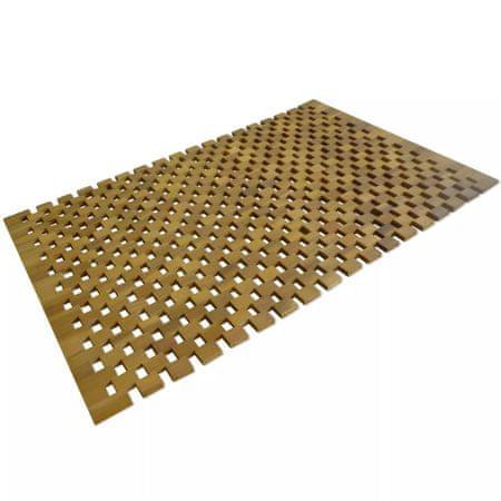 Mata łazienkowa, drewno akacjowe, 80x50 cm, mozaika