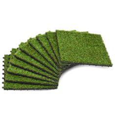 Sztuczna trawa w płytkach, 30x30 cm, 10 sztuk, zielona