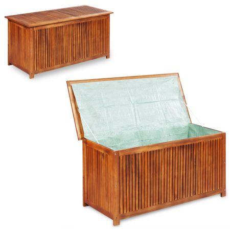 shumee Vrtna škatla za shranjevanje 117x50x58 cm trden akacijev les