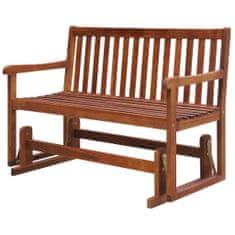 shumee Hojdacia záhradná lavička 125 cm, akáciový masív