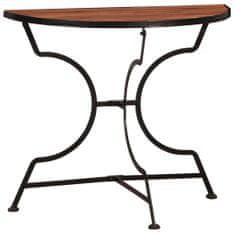 Bistro stolík z akáciového dreva 85x43x75 cm