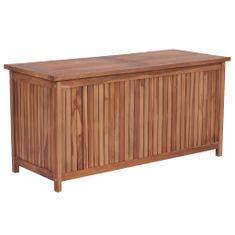 Zahradní úložný box 120 x 50 x 58 cm masivní teakové dřevo