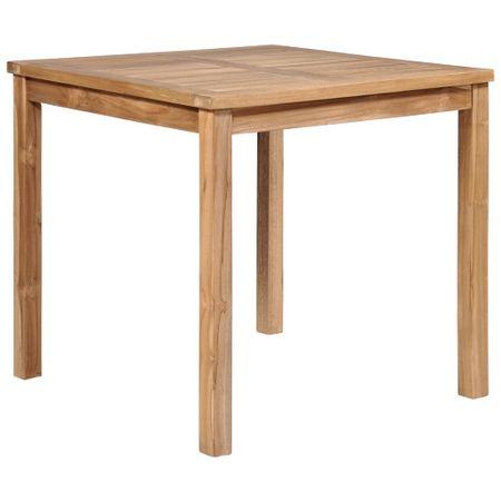 shumee Vrtna miza 80x80x77 cm trdna tikovina