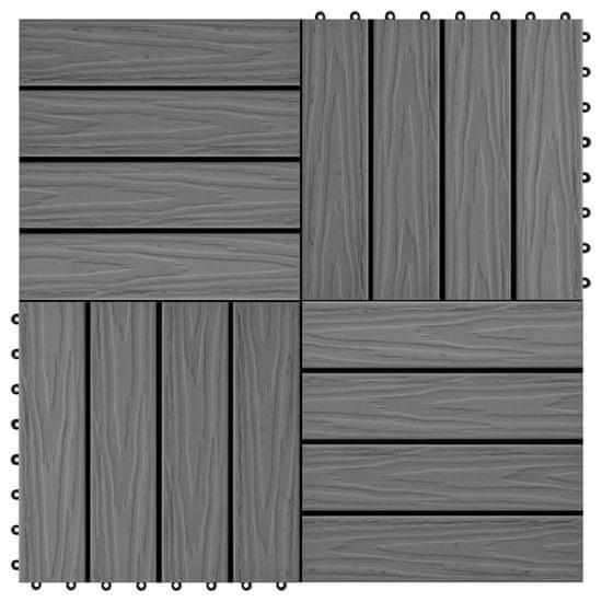 Podlahové dlaždice z WPC 11 ks 30x30 cm 1 m2 šedé