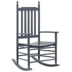 shumee Hojdacie kreslo so zaobleným sedadlom, sivé, topoľové drevo