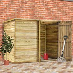 Szopa na narzędzia, 232x110x170 cm, impregnowane drewno sosnowe